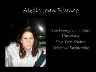 Alexis Joan  Bianco