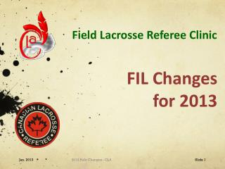 Field Lacrosse Referee Clinic