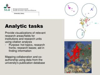 Analytic tasks