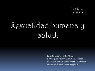 Sexualidad humana y salud.