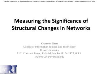 Measuring the Significance of Structural Changes in Networks