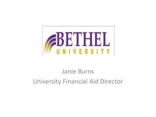 Janie Burns University Financial Aid Director