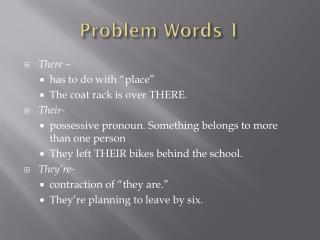 Problem Words 1