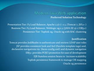 Modern Java Web application