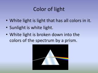 Color of light