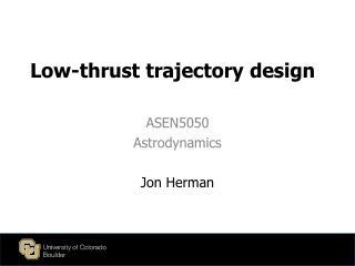 Low-thrust trajectory design