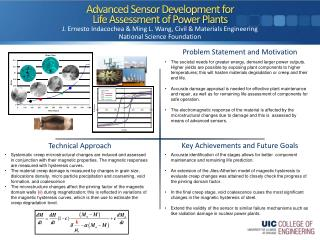 Advanced Sensor Development for Life Assessment of Power Plants