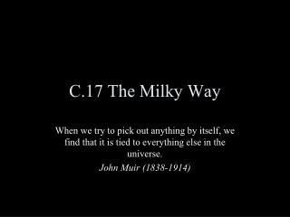 C.17 The Milky Way