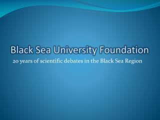 Black Sea University Foundation