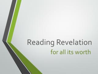 Reading Revelation