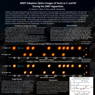 MMT Adaptive Optics Images of  Vesta  in L' and M' During the 2007 Apparition.