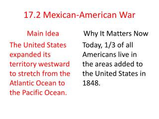 17.2 Mexican-American War