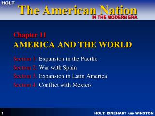 Chapter 11 AMERICA AND THE WORLD