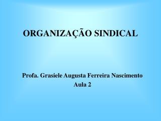 ORGANIZA  O SINDICAL