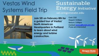Vestas Wind Systems Field Trip