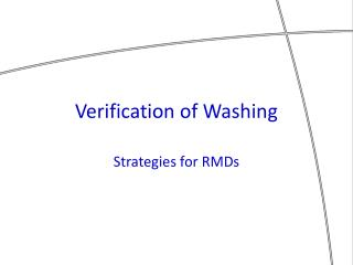 Verification of Washing