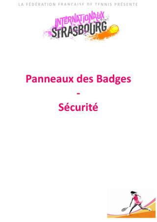 Panneaux des Badges - Sécurité