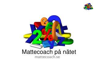 Mattecoach på nätet