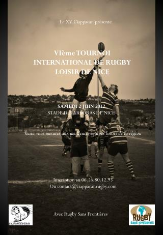 VIème TOURNOI INTERNATIONAL DE RUGBY LOISIR DE NICE