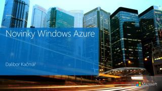 Novinky  Windows Azure