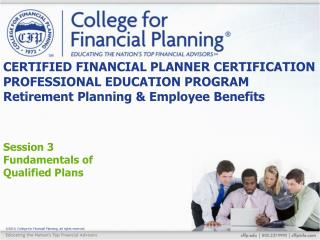 Session 3 Fundamentals of  Qualified Plans
