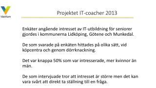 Projektet IT-coacher 2013