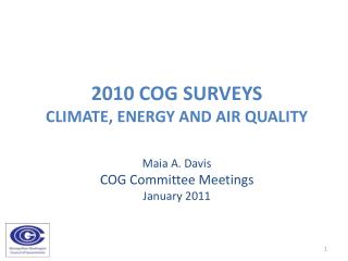 2010 COG surveys  Climate, energy and air quality