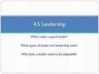 4.5 Leadership