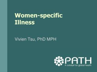 Women-specific Illness