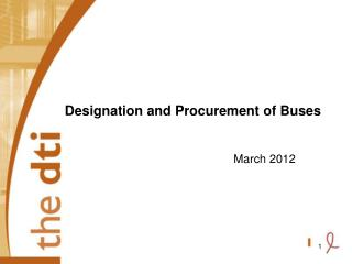 Designation and Procurement of Buses