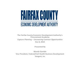 The Fairfax County Economic Development Authority's Procurement Academy