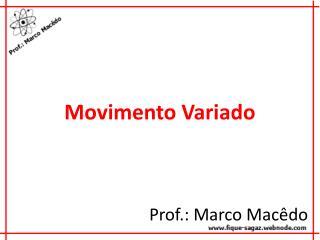 Movimento Variado
