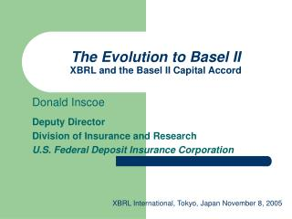 The Evolution to Basel II XBRL and the Basel II Capital Accord