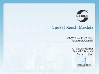 Causal Rasch Models