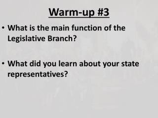 Warm-up #3