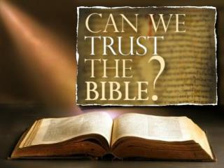 Where did the Bible come from?  How do we know the right books are in the Bible?