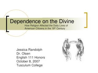 Dependence on the Divine