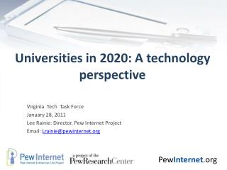 Universities in 2020: A technology perspective