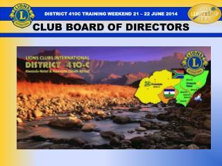 CLUB BOARD OF DIRECTORS