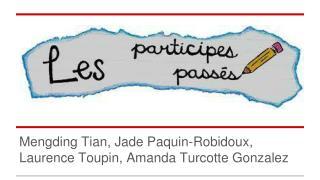 Mengding Tian, Jade Paquin-Robidoux, Laurence Toupin, Amanda Turcotte Gonzalez