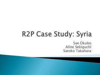 R2P Case Study: Syria