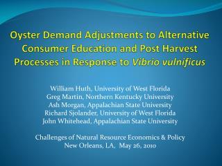 William  Huth , University of West Florida Greg Martin, Northern Kentucky University