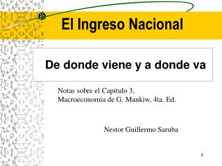 El Ingreso Nacional