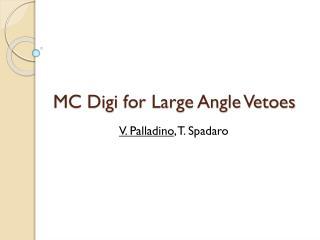 MC  Digi  for Large Angle Vetoes