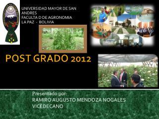 POST GRADO 2012