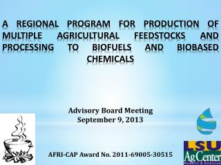 AFRI-CAP Award No. 2011-69005-30515