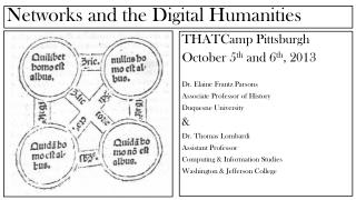 Networks and the Digital Humanities