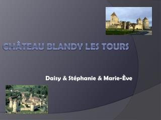 Château  Blandy l es tours
