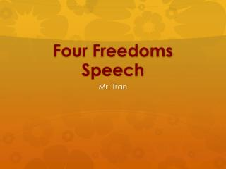 Four Freedoms Speech