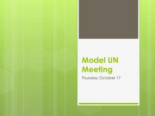 Model UN Meeting